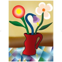 Vaso vermelho