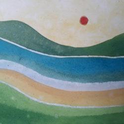 aquarela de pedra